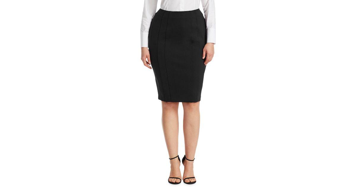 5c5589644f Lyst - Marina Rinaldi Women's Ocraceo Pencil Skirt - Black - Size 12w in  Black