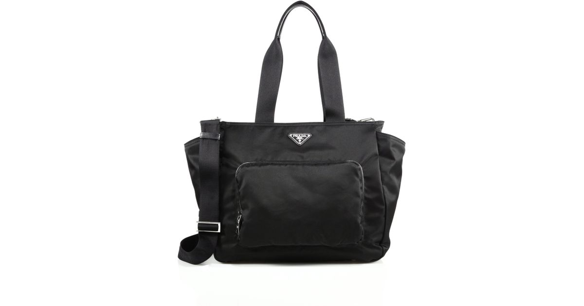 733f61acab0b ... good lyst prada nylon diaper bag in black 7e2bc 086b8