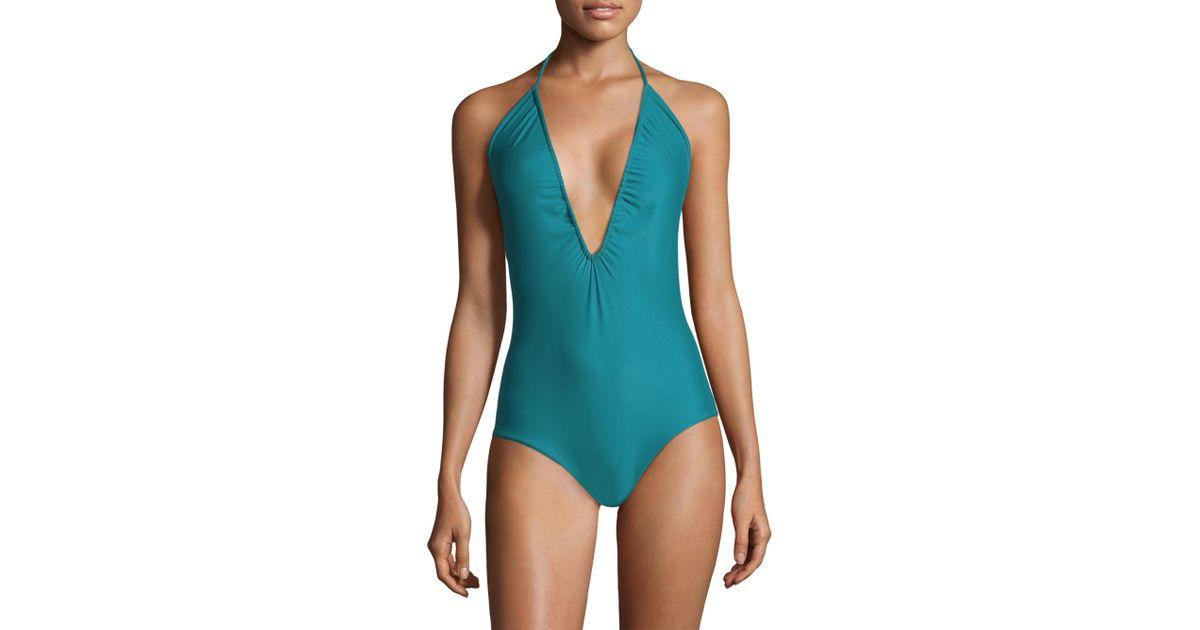 52380a3478 Mikoh Swimwear One-piece Luana Swimsuit in Blue - Lyst