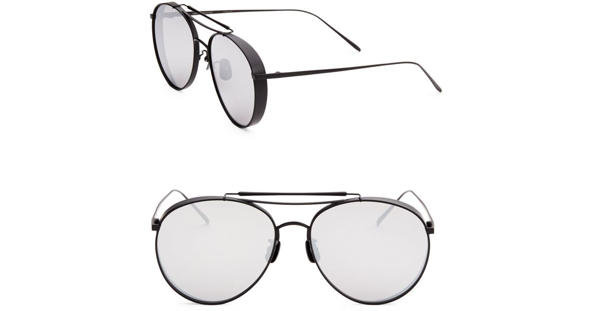 257a4f092d Lyst - Gentle Monster 60mm Big Bully Aviator Sunglasses in Black