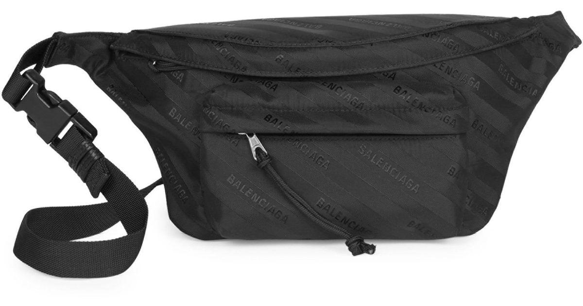 31ec7e99c1 Lyst - Balenciaga Women s Wheel Nylon Logo Belt Bag - Noir in Black
