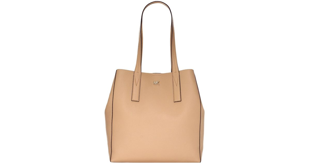 8ca5e3bf1b63 Lyst - MICHAEL Michael Kors Large Junie Pebbled Leather Tote in Natural