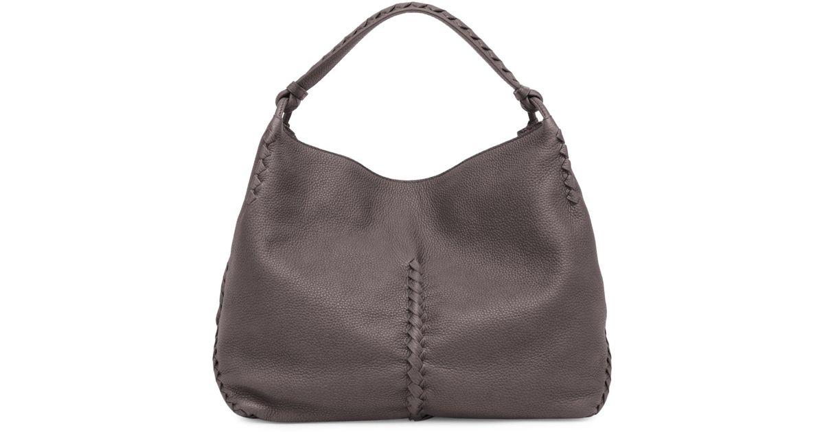 Lyst - Bottega Veneta Cervo Leather Hobo Bag 619d82252c70f