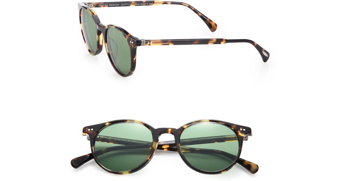 884afd86cb Lyst - Oliver Peoples Delray 48mm Round Sunglasses in Green