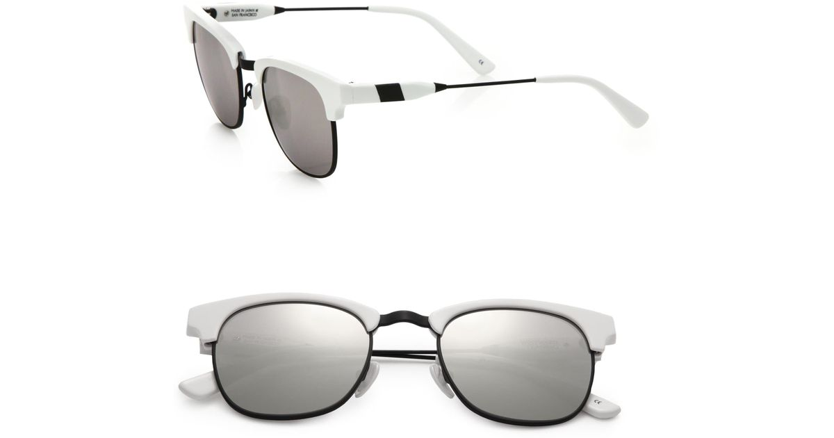 84ef11ed232 Lyst - Westward Leaning Women s Vanguard 11 49mm Square Sunglasses - White  in White
