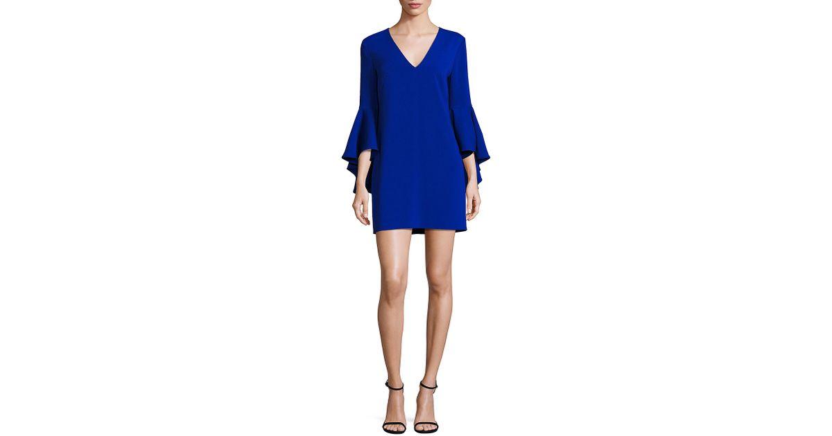 95849a2a05 Milly Italian Cady Nicole Bell Sleeve Dress in Blue - Lyst