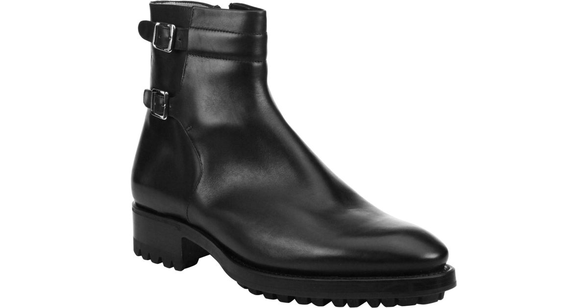 SUTOR MANTELLASSI Stark Parigi Leather Boots Suk0BMs