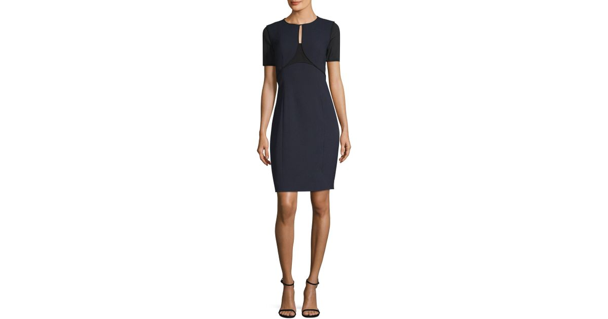 888edc0ea112f Elie Tahari Nixie Stargazer Colorblock Sheath Dress in Blue - Lyst