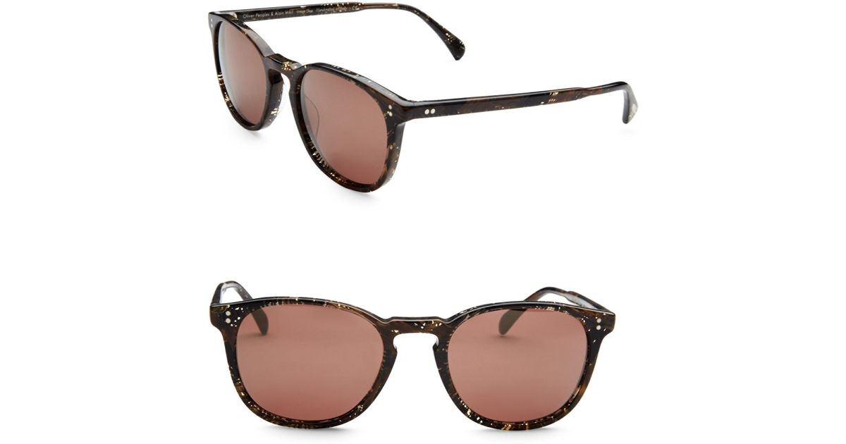 5a275e299b5 Lyst - Oliver Peoples Alain Mikli X Finley Metallic Detail Sunglasses in  Brown