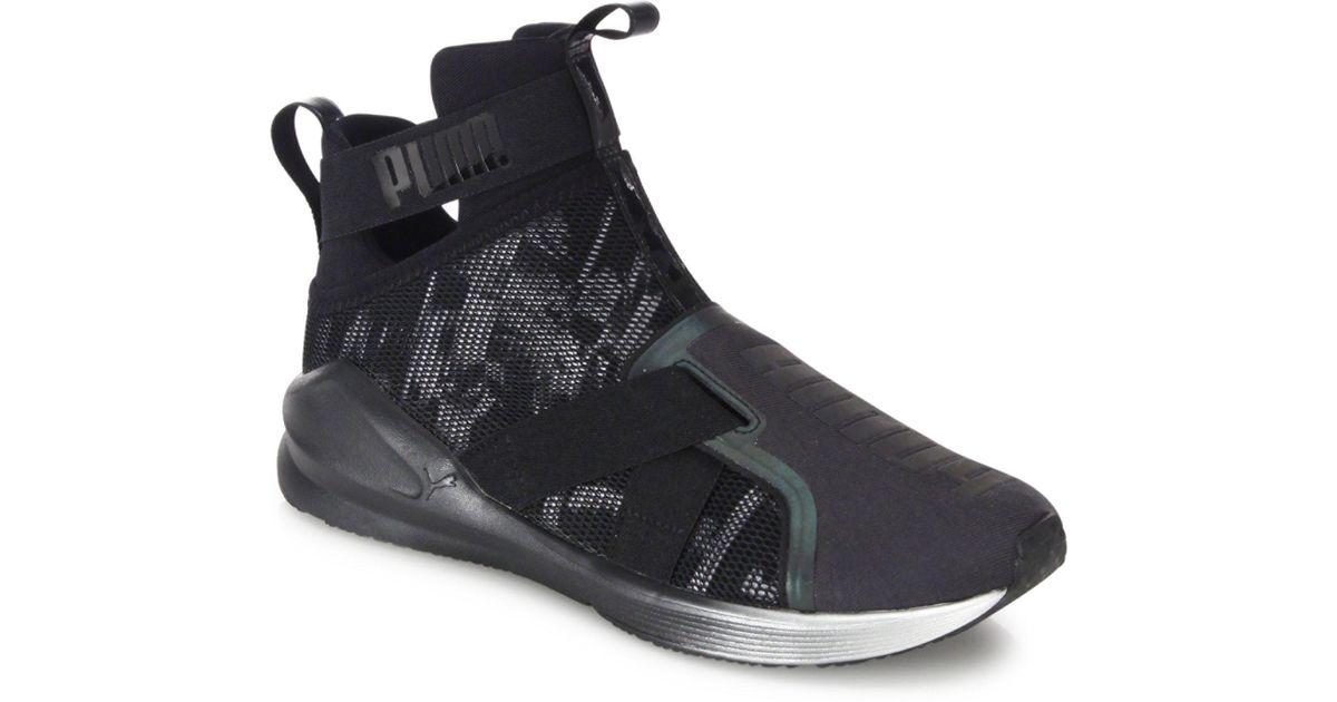 a1df2de5dd46 Lyst - PUMA Fierce Strap Swan Sneakers in Black for Men