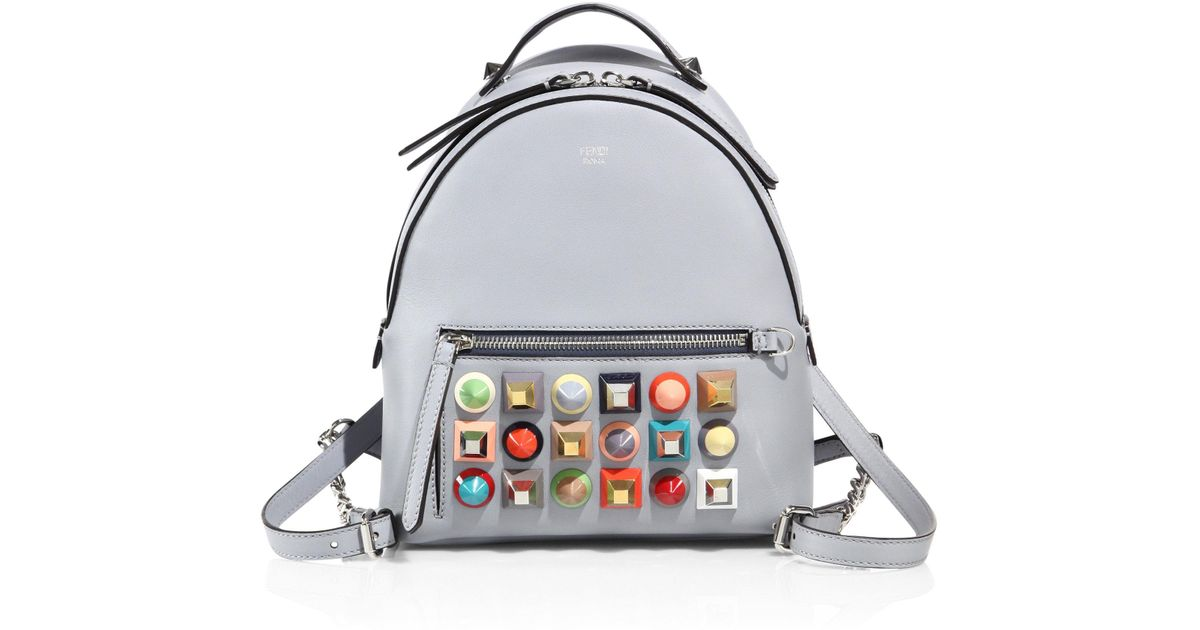 80269d0ce2e5 Lyst - Fendi Multicolor Studded Leather Backpack