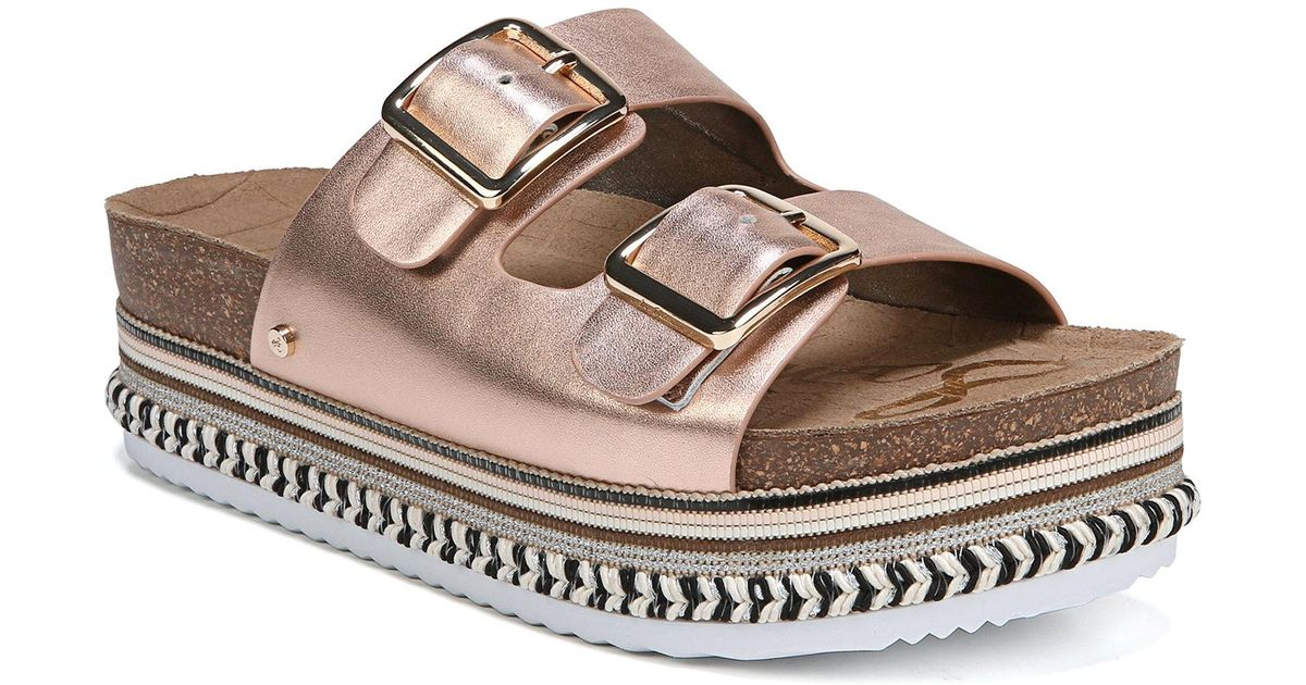 6442ab796 Lyst - Sam Edelman Oakley Metallic Sandals in Metallic