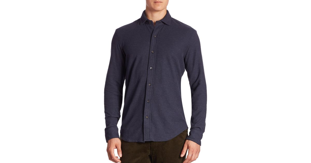 Lyst Polo Ralph Lauren Solid Casual Button Down Shirt In