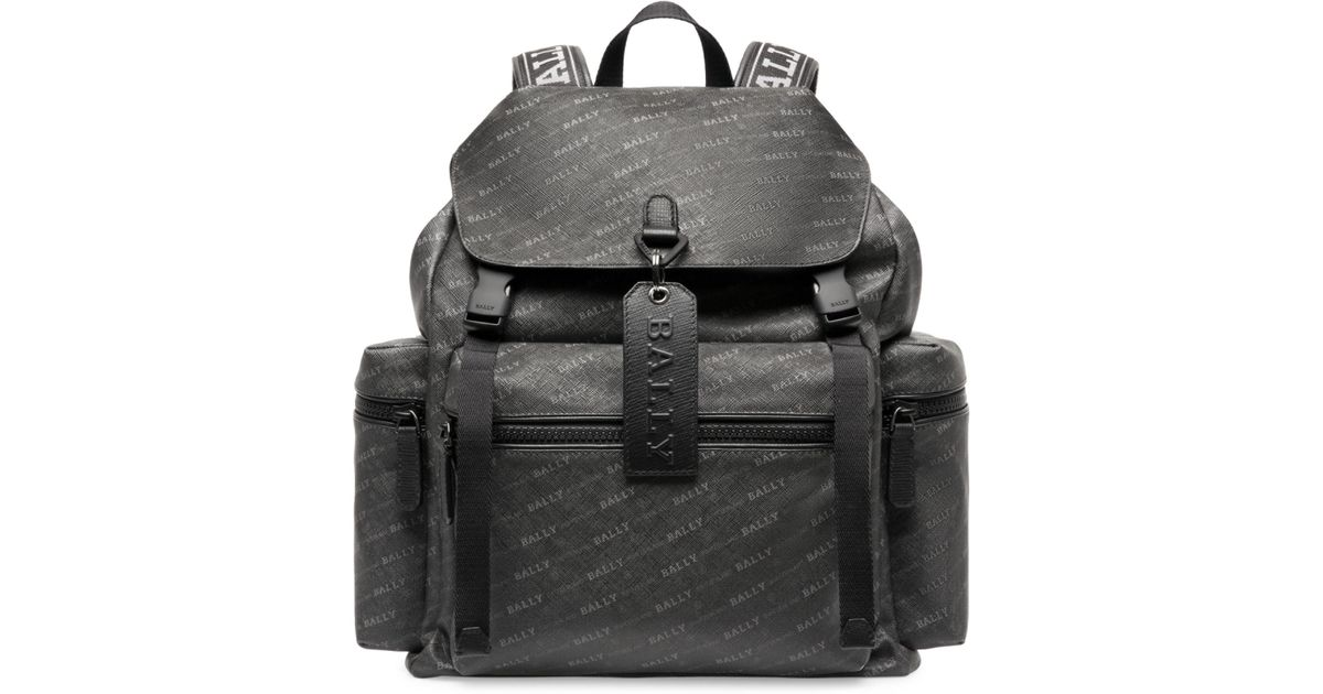 aa7378a0f Bally Crew Logo Backpack in Black for Men - Lyst