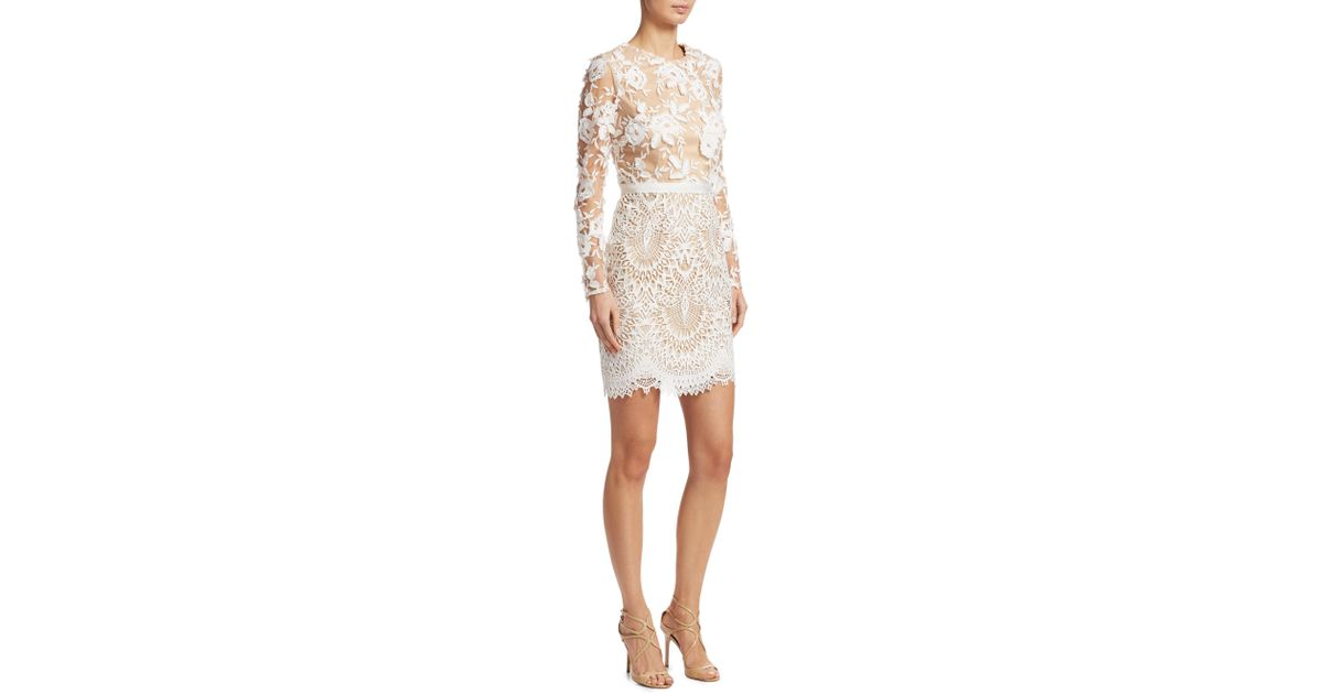 7191fc798f149 ML Monique Lhuillier 444740 in White - Save 66% - Lyst