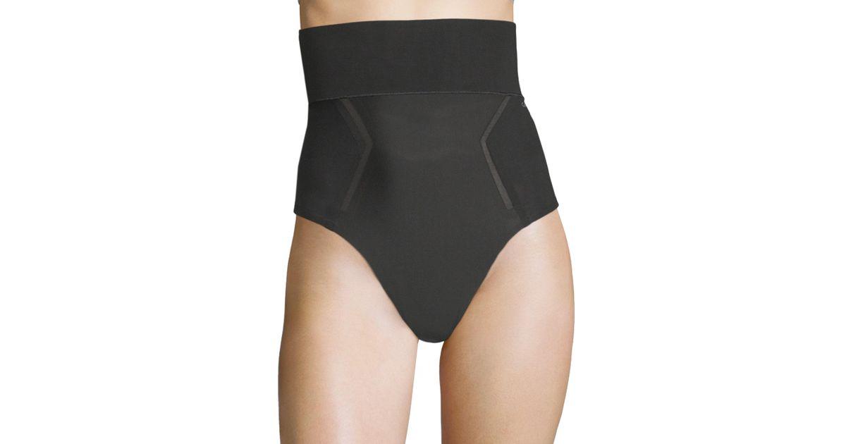 1d6a5c7be9 Calvin Klein Sculpted Shapewear High-waist Thong in Black - Lyst