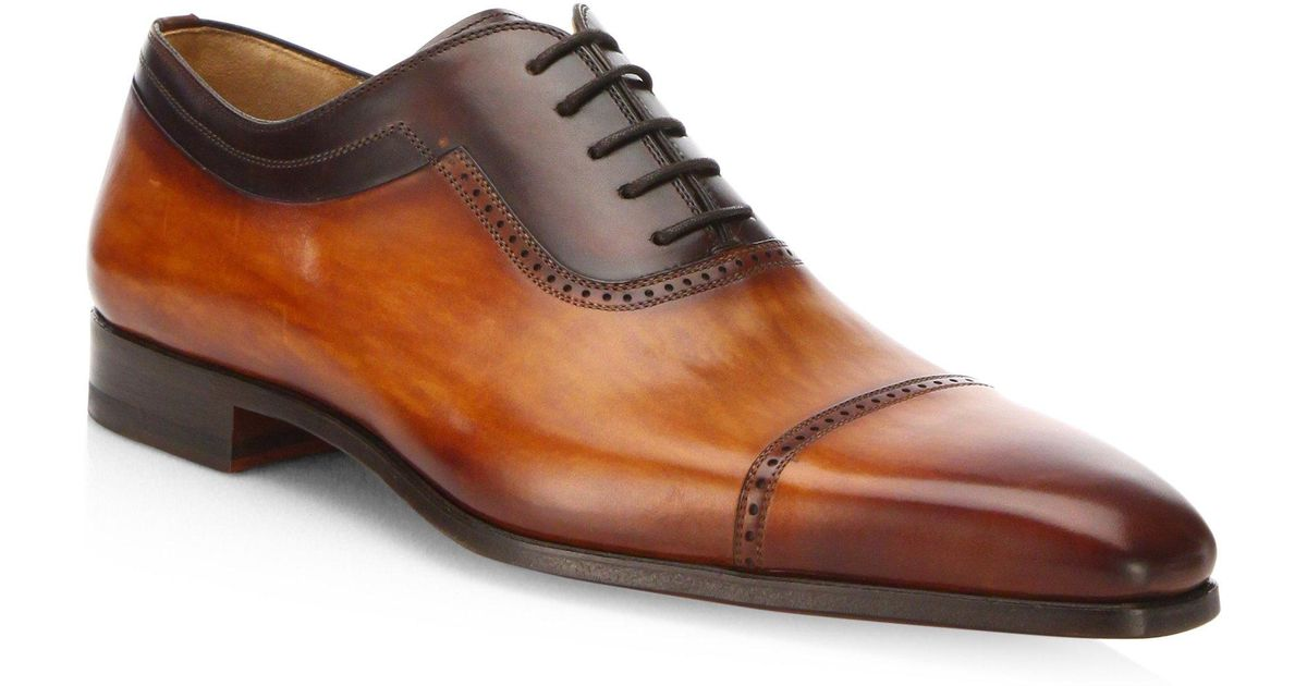 Saks Fifth AvenueCOLLECTION BY MAGNANNI Two-Tone Leather Cap-Toe Oxfords HUSqm