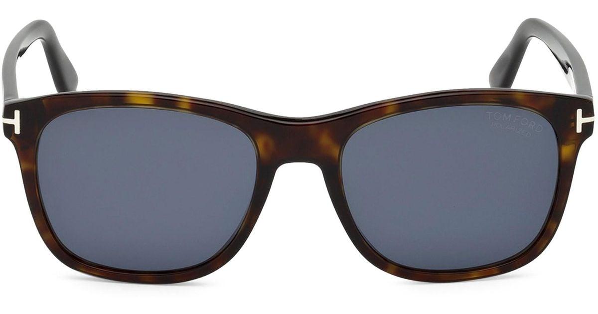 ad5dd80e11 Tom Ford 55mm Eric Squared Tortoise Shell Sunglasses in Blue for Men - Lyst