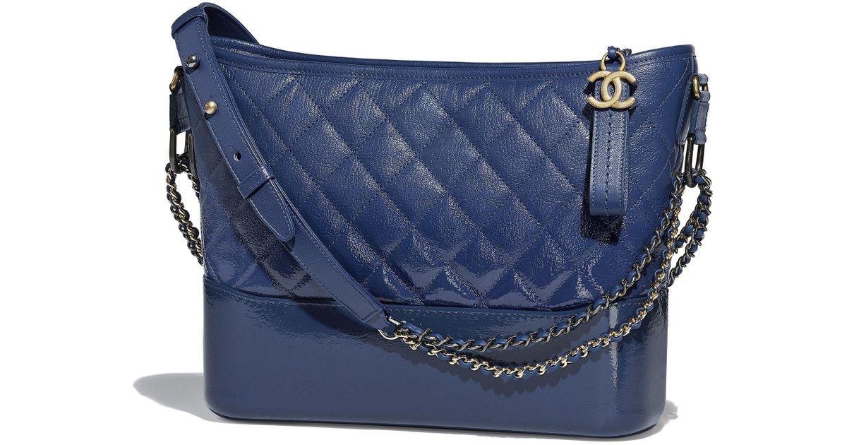 Lyst - Chanel  s Gabrielle Hobo Bag in Blue 79ba9d204