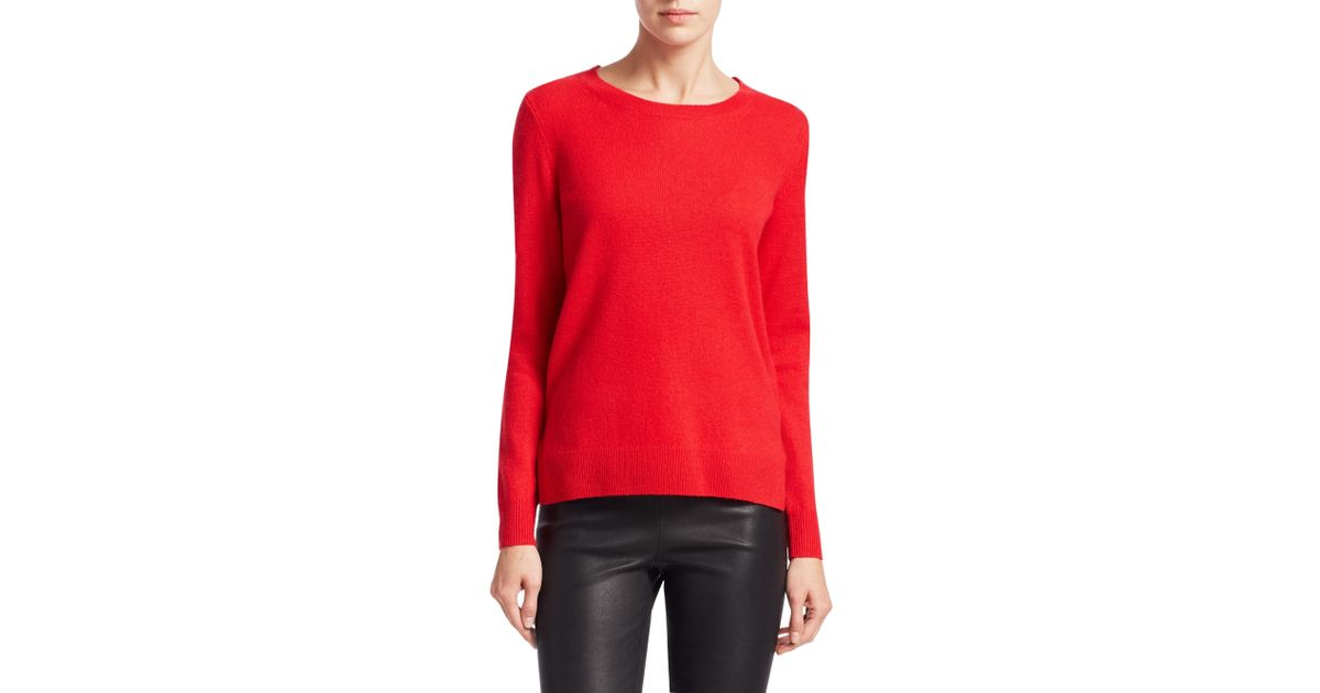 579c4c7593 Lyst - Saks Fifth Avenue Women s Collection Featherweight Cashmere Sweater  - Pale Peony - Size Large in Red