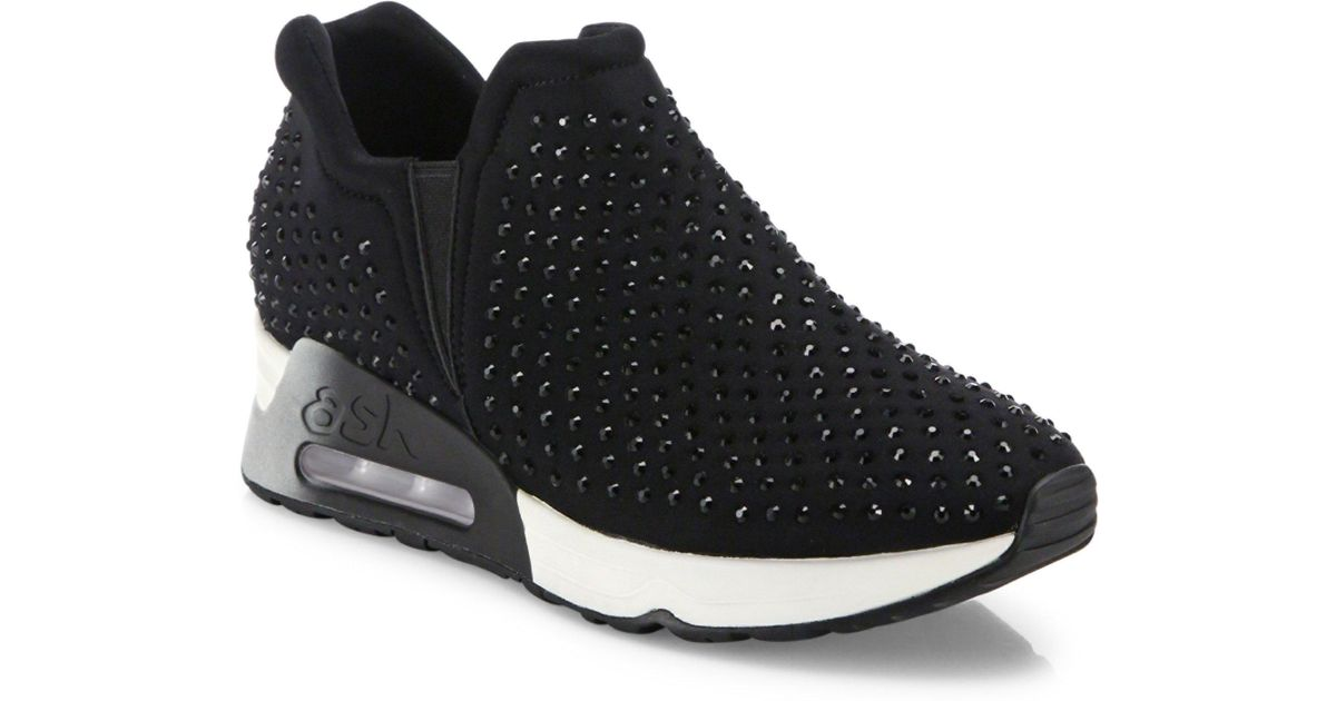 f8d48d92d33b Lyst - Ash Lifting Studded Sneakers in Black
