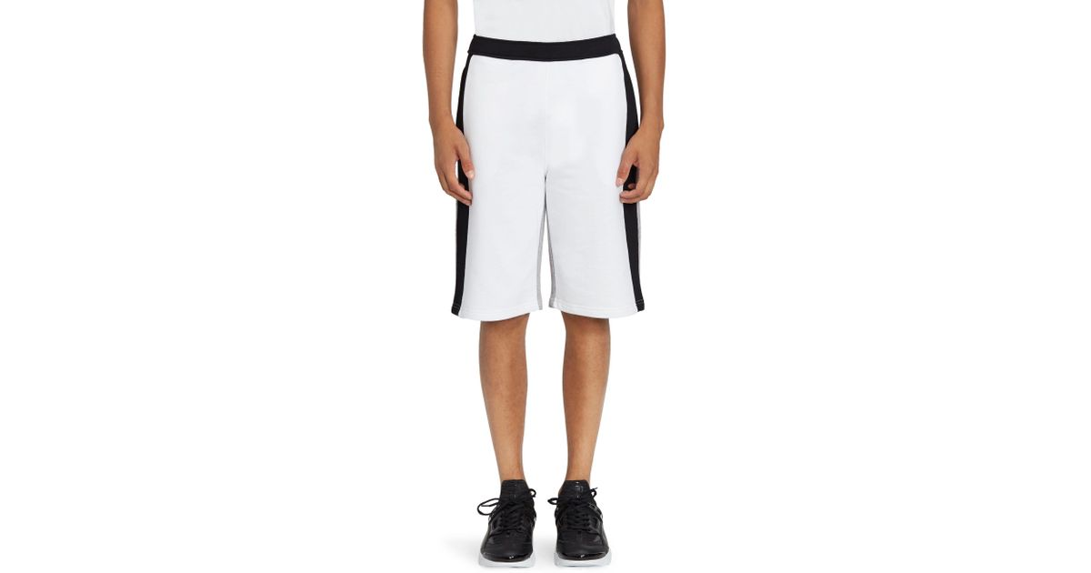 46f362c036c5 Lyst - KENZO Men s Colorblock Logo Shorts - White - Size Small in White for  Men