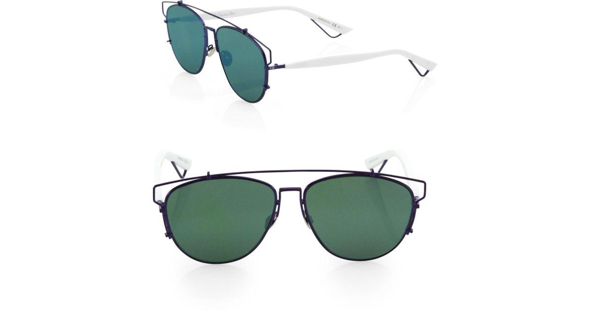 8e13aefecfb Lyst - Dior Women s Technologic 57mm Pantos Sunglasses - Dark Blue in Blue