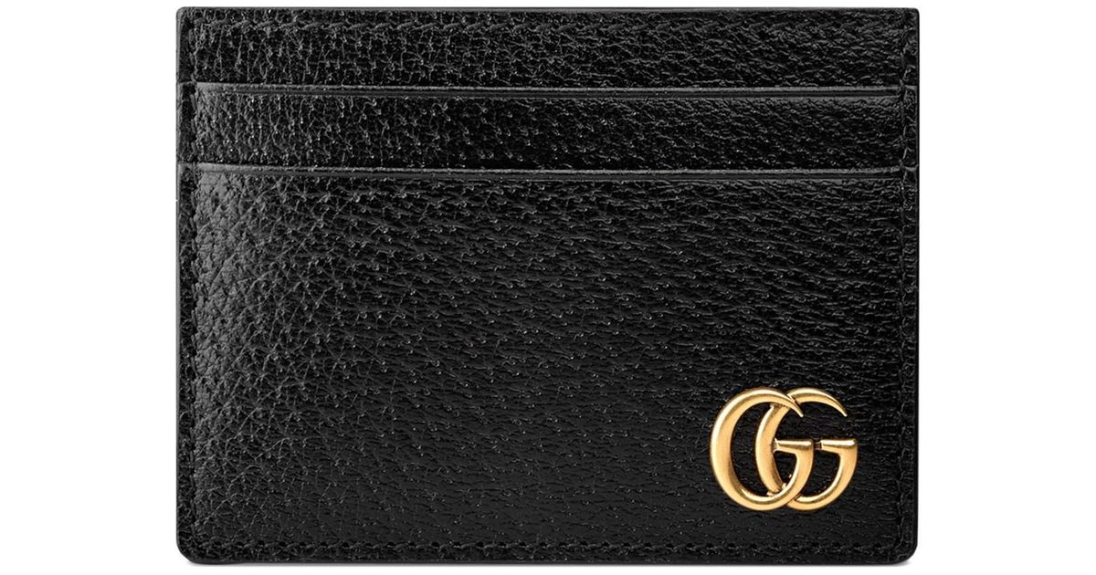 afc50a79aa46 Gucci GG Marmont Leather Money Clip in Black for Men - Save 6% - Lyst