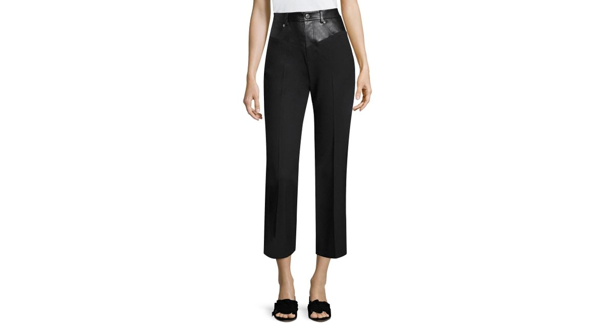 664c080ba2e93e Helmut Lang Garter Flared Pant in Black - Save 32% - Lyst