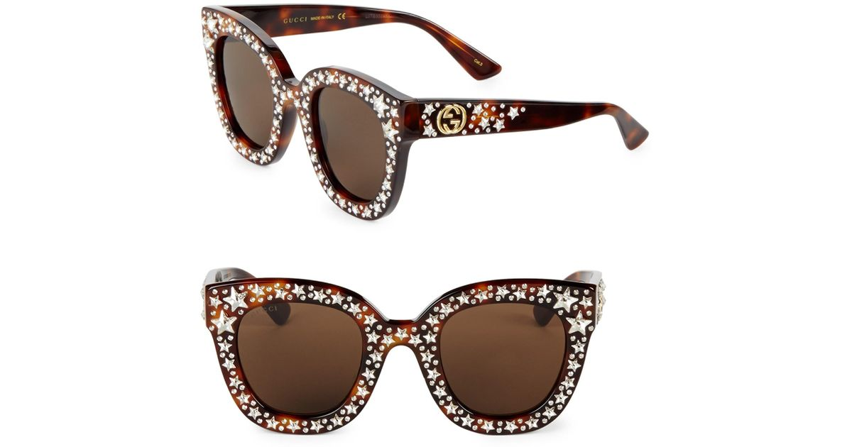 191acd689 Gucci GG 0116/s Cat Eye Sunglasses in Brown - Lyst