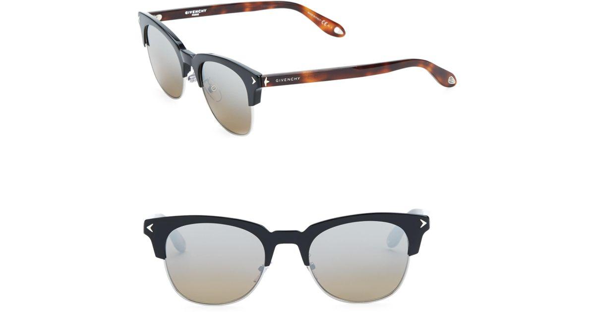 e3c58332616eb Givenchy Men s 53mm Clubmaster Sunglasses - Black Havana in Black for Men -  Lyst