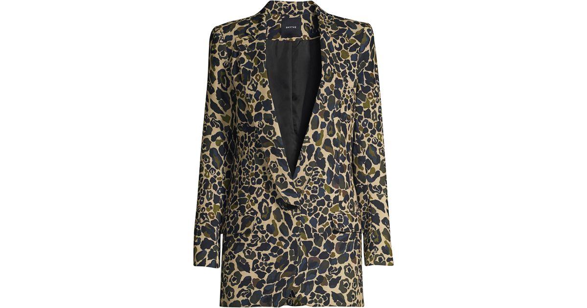 0f7fcff53b32d Smythe Women's Leopard Camo Longline Blazer - Camo Print - Lyst