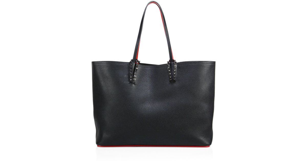 Lyst - Christian Louboutin Black Leather Cabata Tote Bag in Black - Save 21% 267e9f921d727