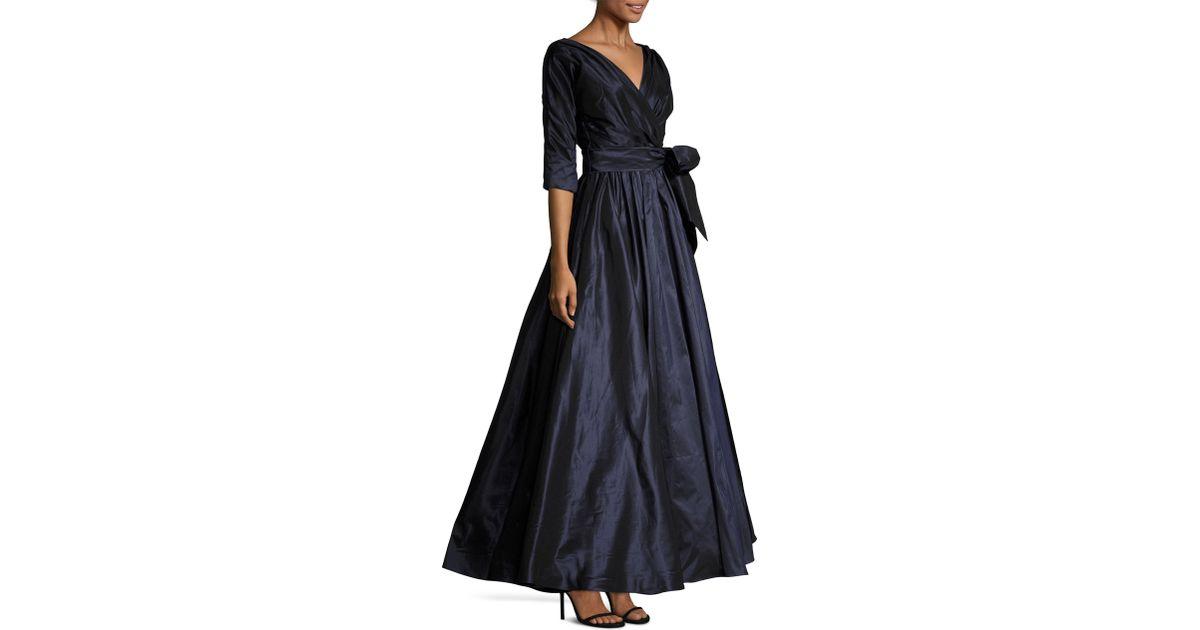 8c1fccbd814 Catherine Regehr Gillian Silk Tie-waist Gown in Blue - Lyst