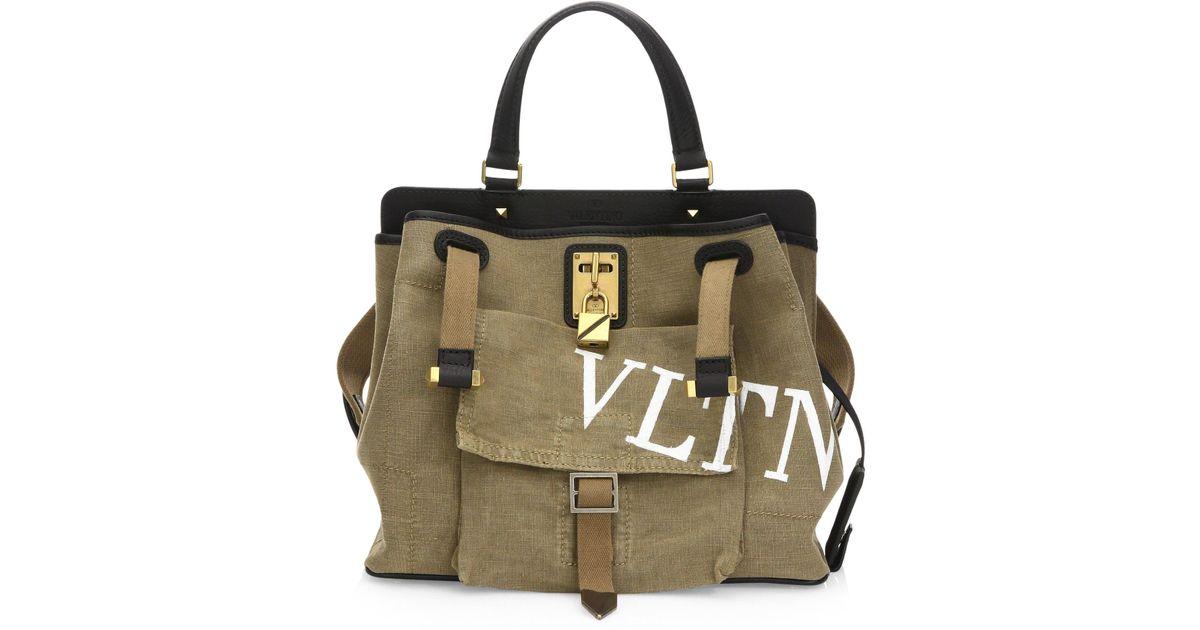1b4c7b8cff19 Lyst - Valentino Medium Scout Joylock Tote Bag