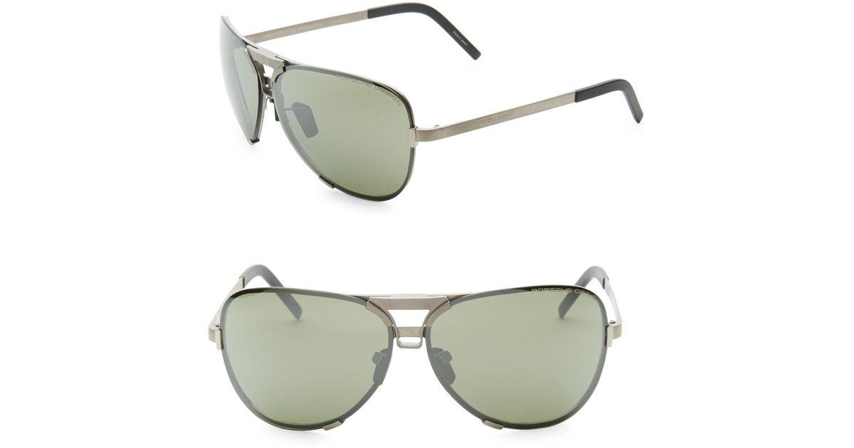 4fd34048cdc Lyst - Porsche Design P 8678 67mm Aviator Sunglasses in Metallic for Men
