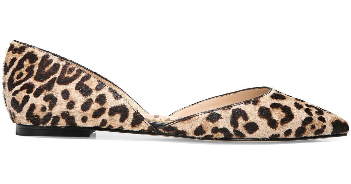cf8f88ab71138 Sam Edelman Rodney Leopard Print Calf Hair Flats - Lyst