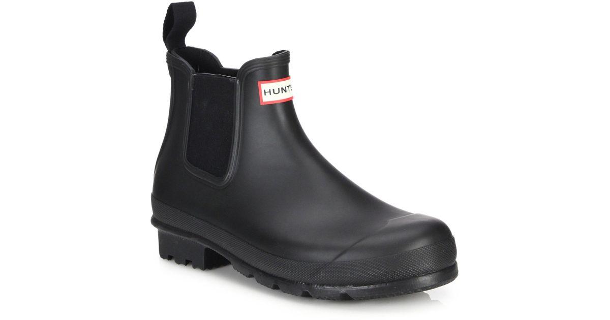 Lyst Hunter Original Chelsea Short Slip On Rain Boots In