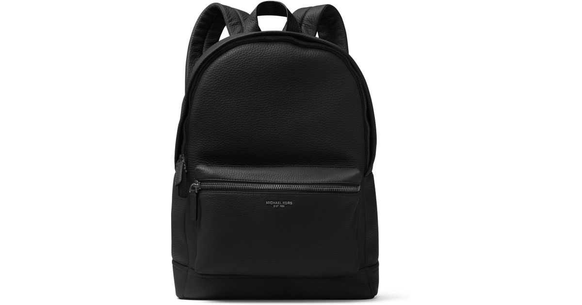 757c90f1d076 Lyst - Michael Kors Men's Bryant Pebble-textured Leather Backpack - Luggage  in Black for Men
