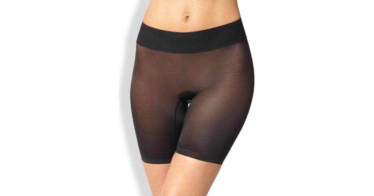 1d51ef94ed79 Wolford Sheer Touch Control Shorts in Black - Save 4% - Lyst