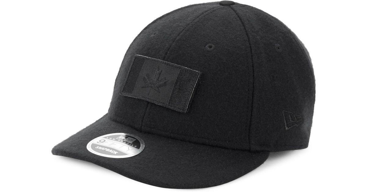 28f239e9880 Canada Goose Melton Wool Baseball Hat in Black for Men - Lyst