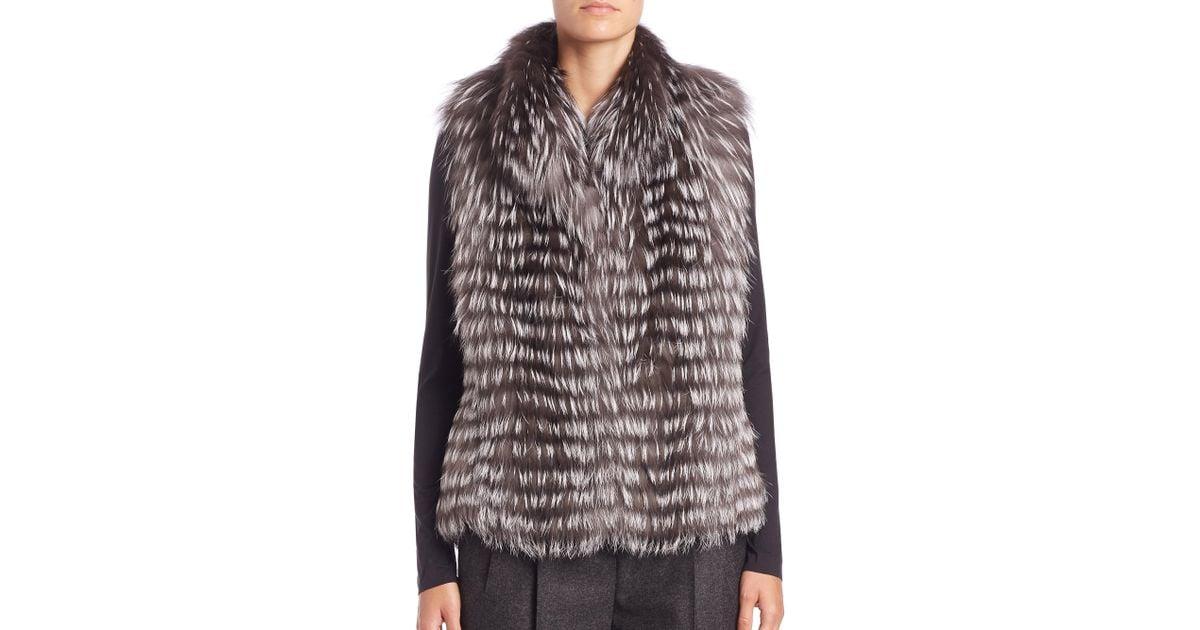 Image result for Michael Kors Collection Horizontal Fox Fur Vest