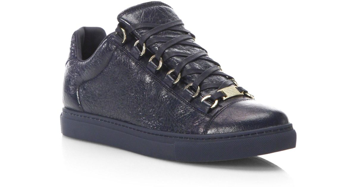 Balenciaga Arena Leather Low-Top Sneakers 31HGkp