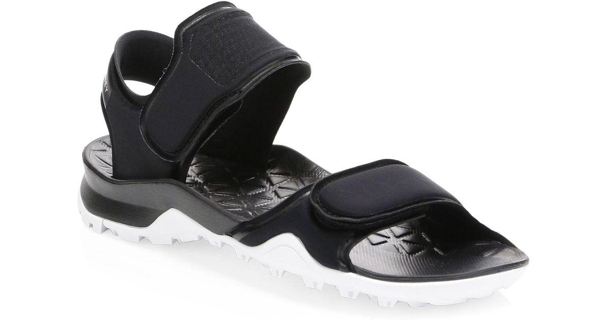 25560f4f7d09 adidas By Stella McCartney Hikira Nylon Grip-tape Sandals in Black - Lyst
