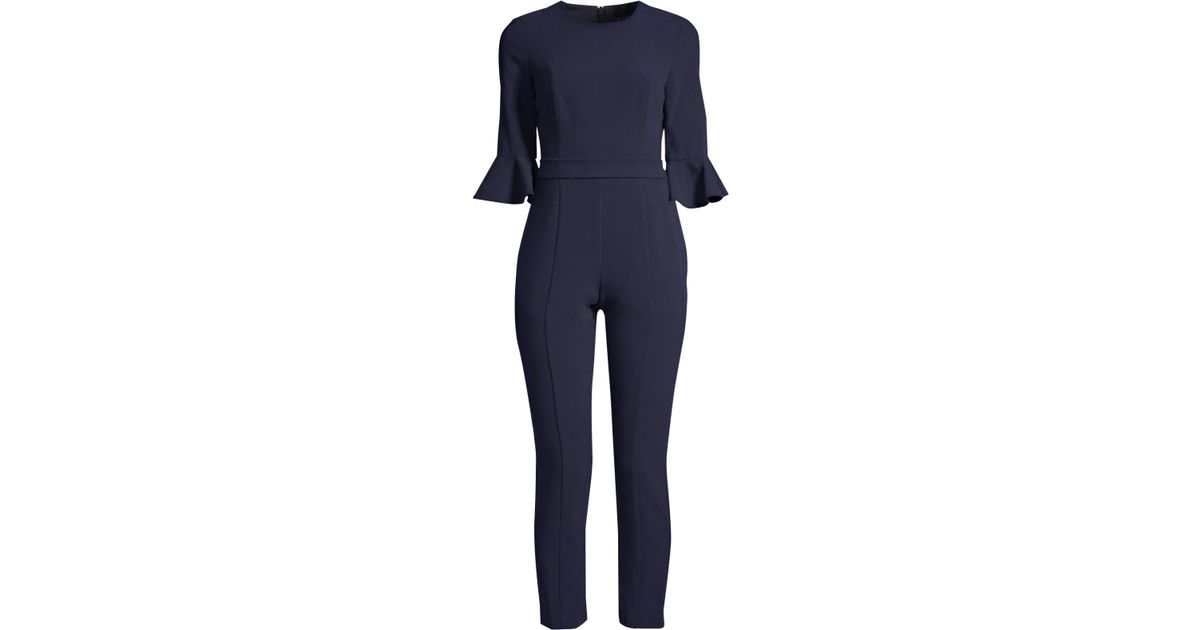 83531d66056 Lyst - Black Halo Brooklyn Bell-sleeve Jumpsuit in Blue