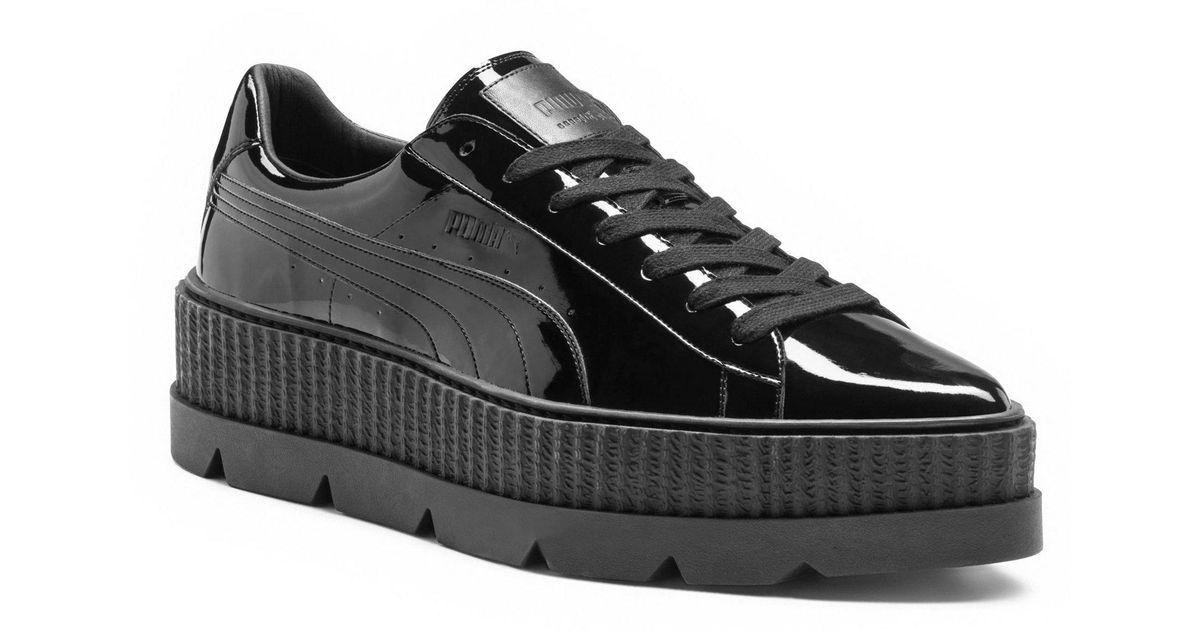 65a2d48185 Fenty Creeper In Pointy Lyst X Patent Women's Sneaker Black Puma Rj35ASLqc4