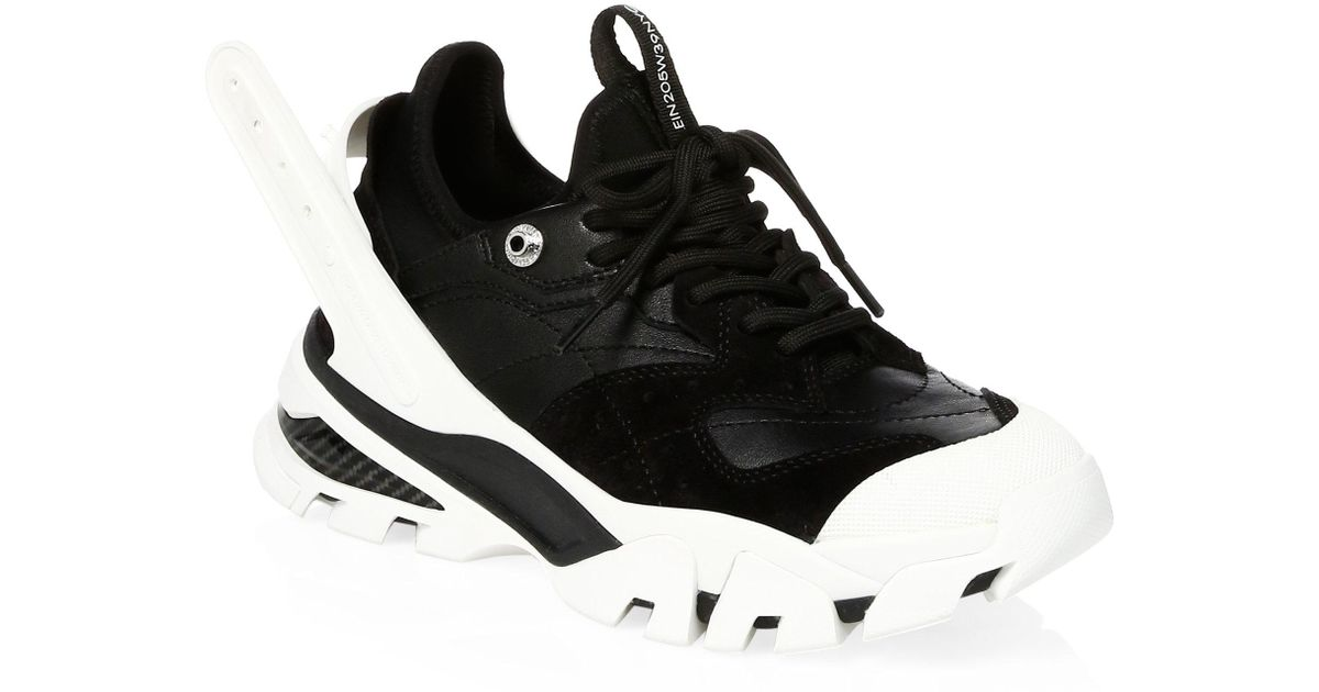 a3d60c088bd Lyst - CALVIN KLEIN 205W39NYC Men s Carla Chunky Sneakers - White Grey in  Black for Men