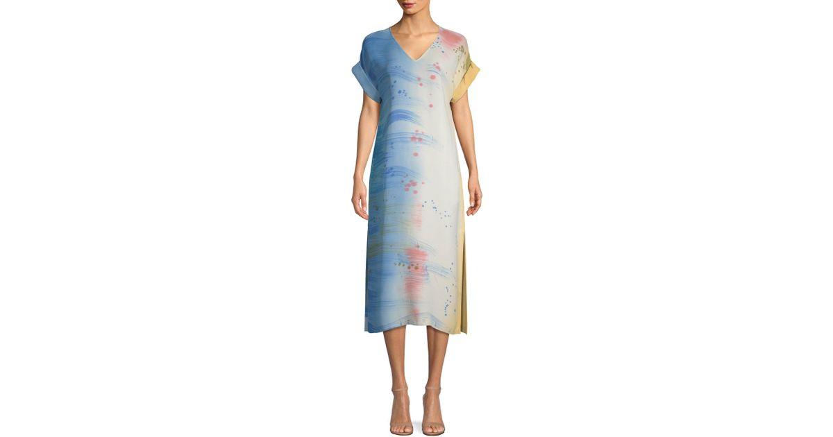 30b101ed Lafayette 148 New York Anderson Silk Dress in Blue - Lyst