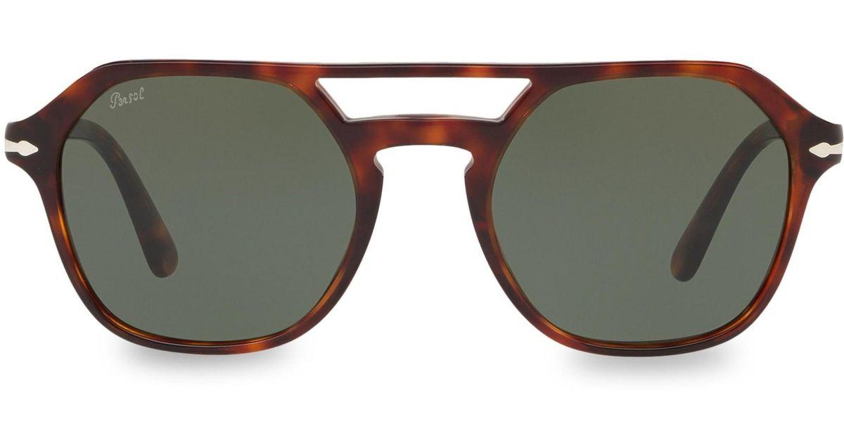 b7c2c25cbb772 Lyst - Persol Men s 54mm Tortoiseshell Aviator Sunglasses - Havana for Men