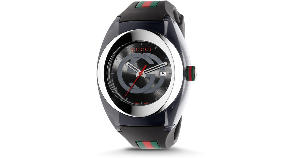 90b7ded60c5 Gucci Men s Sync Stainless Steel Rubber Watch - Red for Men - Lyst